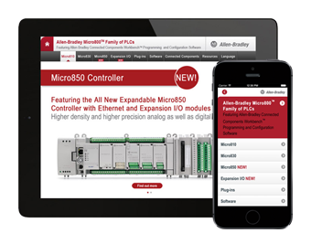 Rockwell Automation catalog app